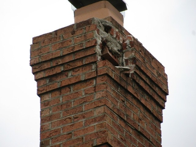 chimney mortar damage
