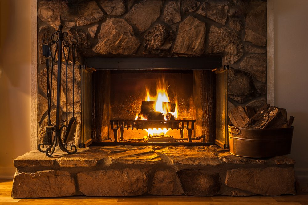 wood burning fireplace in Ellicott City, MD