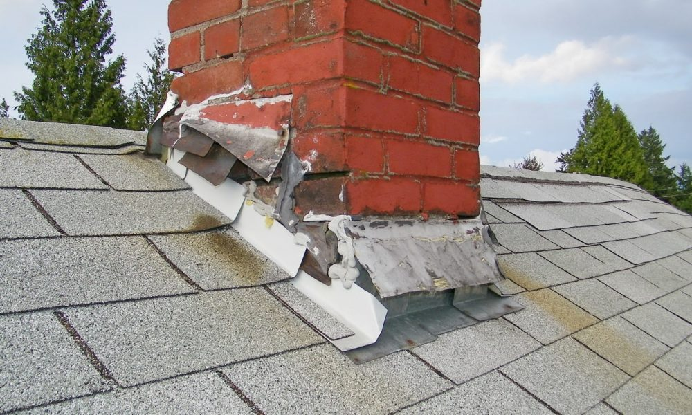 damaged chimney flashing