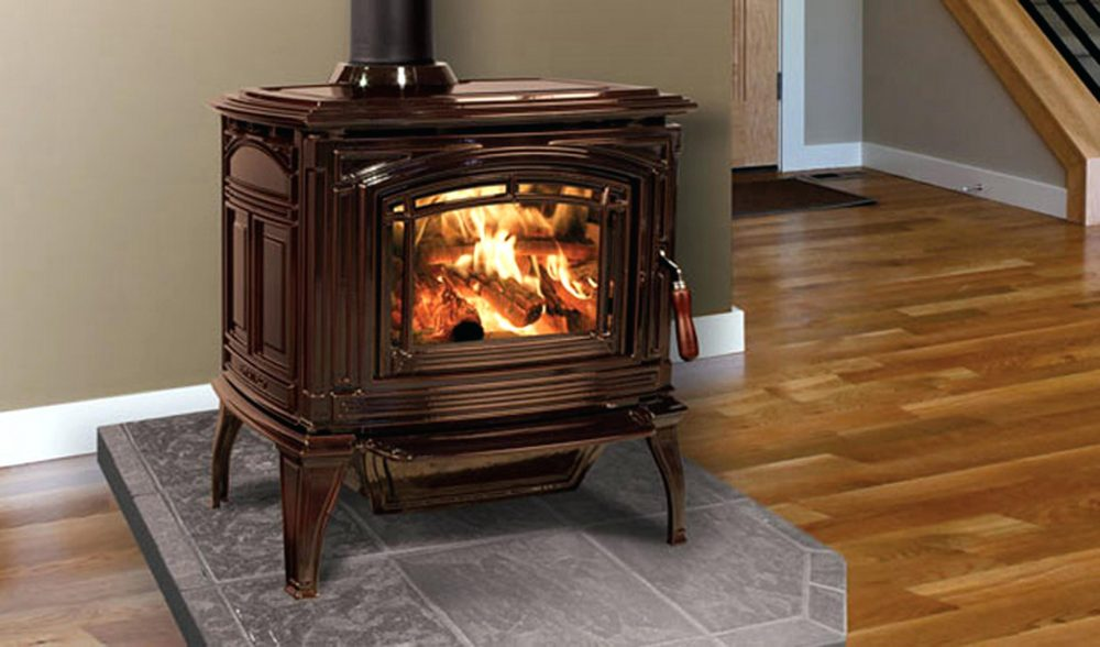 installed pellet stove fireplace