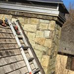 completed chimney cap installation in Potomac, MD