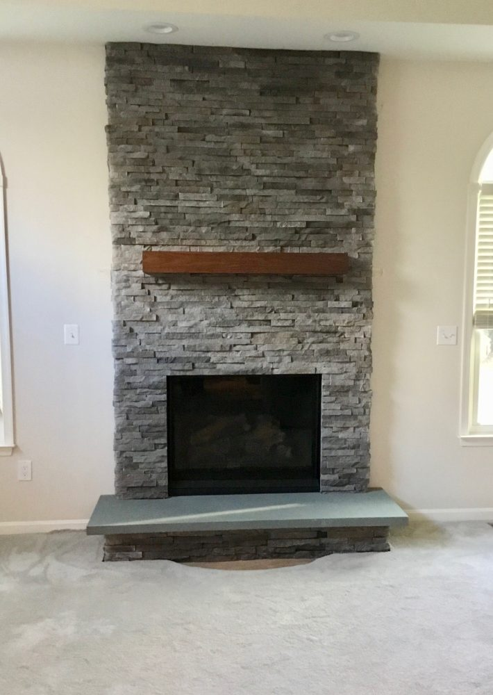 completed gas fireplace installation  in Vienna, Va