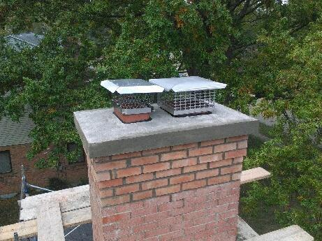 floating cast chimney crown with chimney cap