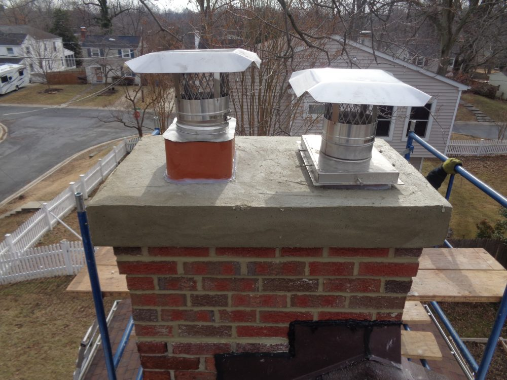 concrete cast in place chimney crown