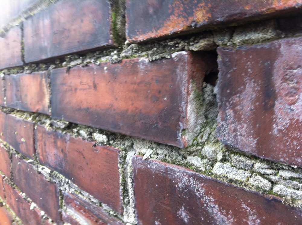 damaged chimney masonry