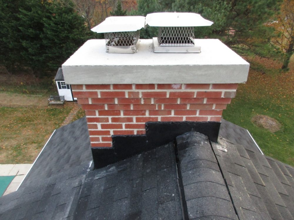 repaired chimney crown