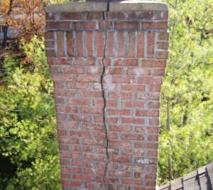 crumbling chimney repair