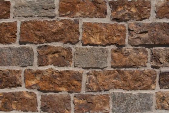 installed natural stone veneer