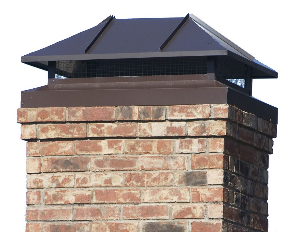 installed chimney cap