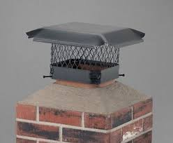 single flue chimney cap installed
