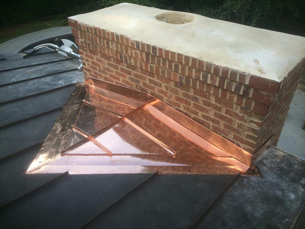 installed chimney cricket