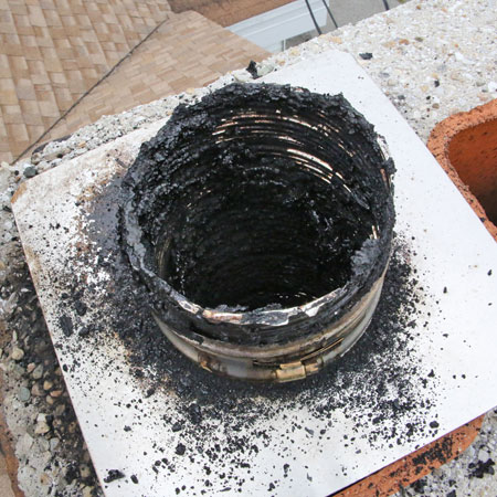 chimney clogged by creosote
