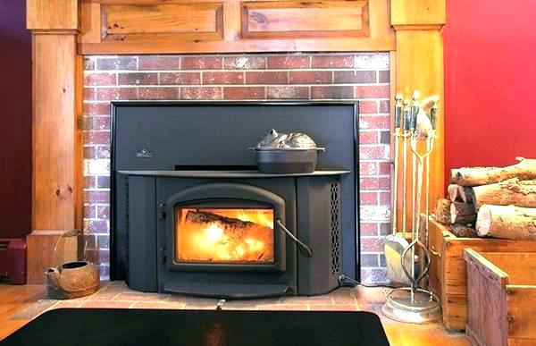 wood fireplace insert installed