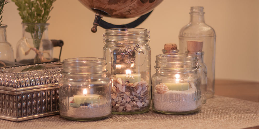 mason jar mantle decorations