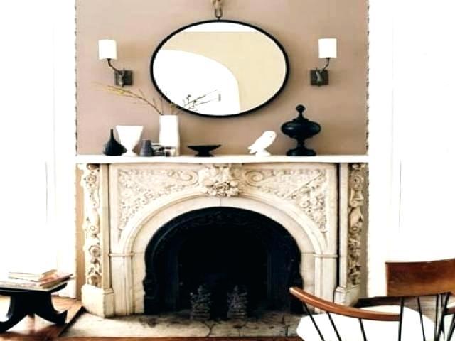 mirror fireplace decoration
