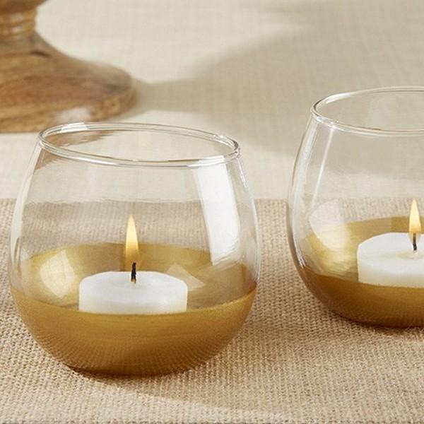 wine glass mantel decoration