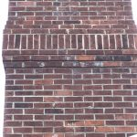repaired brick chimney