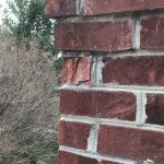 damaged chimney mortar