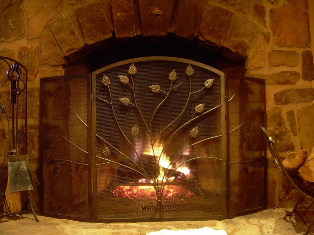 fireplace safety screen