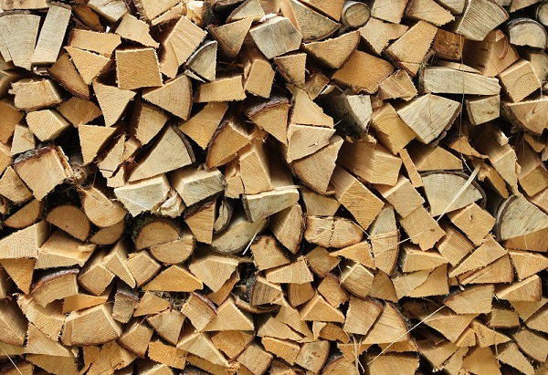 cured fireplace wood