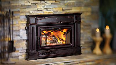 installed regency wood burning fireplace insert