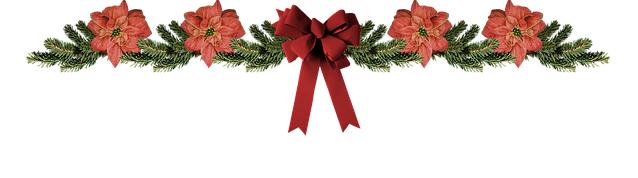 pine and ribbon mantel decoration