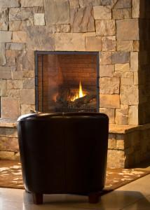 installed fireplace veneer
