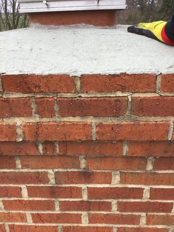 leaking cracked chimney crown